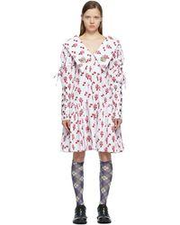 Chopova Lowena ホワイト & レッド ドレス