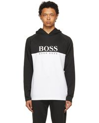 BOSS by Hugo Boss - ブラック & ホワイト フーディ - Lyst