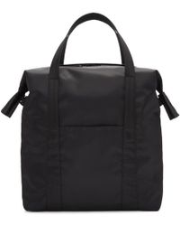 Maison Margiela - Black Nylon Tote Bag - Lyst