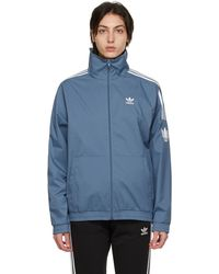 adidas Originals ブルー Adicolor 3d Trefoil トラック ジャケット