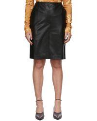 Nanushka Vegan Leather Regan Skirt - Black