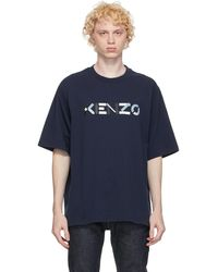 KENZO - ネイビー Skate ロゴ T シャツ - Lyst