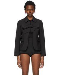 ShuShu/Tong Black Bow Suit Jacket