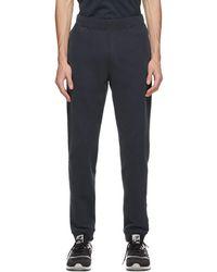 Sunspel Pantalon de survêtement bleu marine Loopback