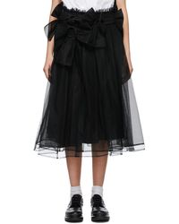 Noir Kei Ninomiya - ブラック スカート - Lyst