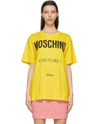 Moschino - イエロー Couture! T シャツ - Lyst
