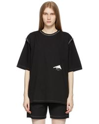 ADER error Trace Tape Logo T-shirt - Black