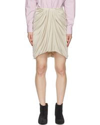 Isabel Marant - ベージュ Disparis ミニスカート - Lyst