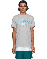 Noah Adidas Originals Edition グレー シェル ロゴ T シャツ