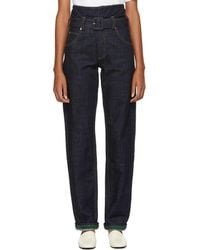 Carven Indigo Baggy Jeans - Blue