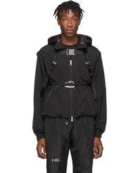 HELIOT EMIL Black Technical Vest Jacket