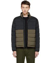 Rag & Bone - Black And Green Packable Down Jacket - Lyst