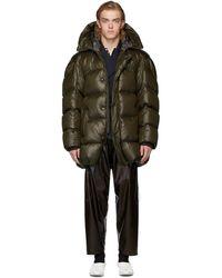 Hed Mayner Khaki Hooded Puffer Jacket - Multicolor