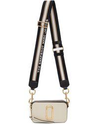 Marc Jacobs Sac blanc casse et noir The Snapshot
