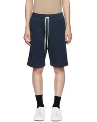 John Elliott - Blue Sweat Shorts - Lyst