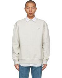ADER error Beige Oversized Kangaroo Pocket Sweatshirt - Natural