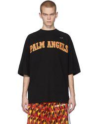Palm Angels - ブラック New College ロゴ オーバー T シャツ - Lyst