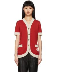 Gucci Cardigan rouge Double Pocket