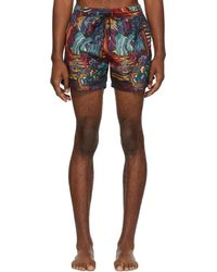 Paul Smith - Multicolor Dreamer Classic Swim Shorts - Lyst