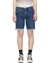 Levi's Indigo 511 Slim Cut-off Shorts - Blue