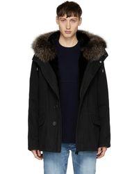 Yves Salomon - Black Fur-lined Parka - Lyst