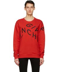 Givenchy - レッド Embroidered Refracted スウェットシャツ - Lyst