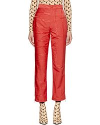 Marine Serre - Red Moire Cornerstones Trousers - Lyst
