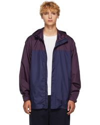 3.1 Phillip Lim - Navy And Purple Colorblocked Hooded Jacket - Lyst