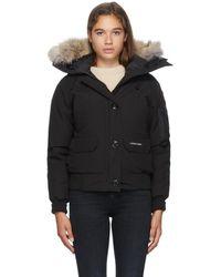 Canada Goose Chilliwack Fur Hood Bomber Jacket - Black