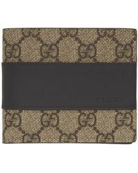 34667dd00f2 Lyst - Gucci Vintage Gg Supreme Billfold Wallet in Natural for Men