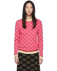 Gucci - ピンク GG ジャカード セーター - Lyst