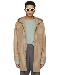 Acne Studios - Red And Orange Check Merves Jacket - Lyst