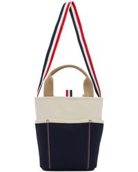 Thom Browne Off-white Bucket Tote