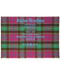 Acne Studios - ピンク And ブルー タータン チェック スカーフ - Lyst