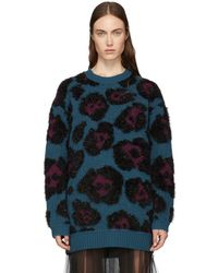 Marc Jacobs - Blue Knit Tunic Sweater - Lyst