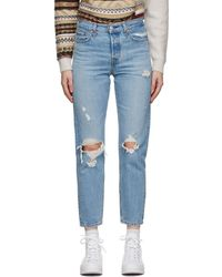 Levi's Jean a effet use bleu Wedgie Fit Ankle