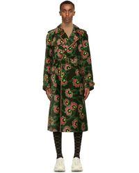 Gucci - Ken Scott Edition グリーン ベルベット フローラル コート - Lyst