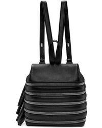 Kara - Black Small Multi Zip Backpack - Lyst