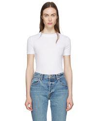 Rosetta Getty - White Cotton T-shirt - Lyst