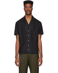 Eidos Black Camp Collar Shirt