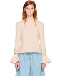 See By Chloé - Off-white Bell Sleeve Sweatshirt - Lyst