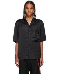 Song For The Mute Black Cupro Box Short Sleeve Shirt