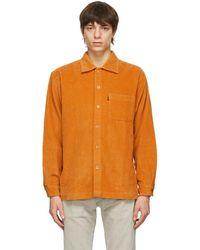 Levi's オレンジ シャツ