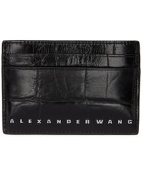Alexander Wang - Black Croc Dime Card Holder - Lyst