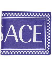 Versace - Logo Leather Bifold Wallet - Lyst