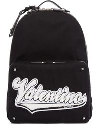 Valentino - Black Garavani Varsity Backpack - Lyst