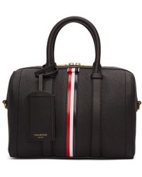 Thom Browne Black Small Unstructured Holdall Bag