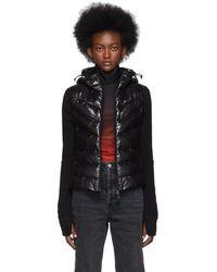 3 MONCLER GRENOBLE Black Down Panelled Jacket