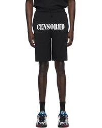 Vetements ブラック Censored ショーツ