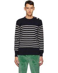 Marc Jacobs - Armor-lux Edition ネイビー ウール ストライプ スウェットシャツ - Lyst